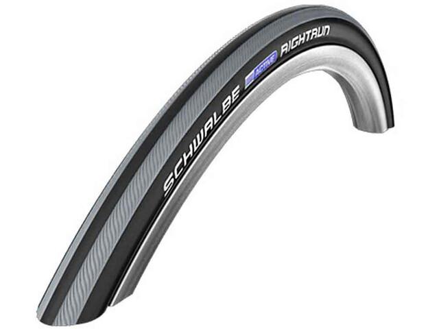 """SCHWALBE Rightrun Plus Performance Drahtreifen 24x1.00"""" für Rollstuhl black/grey stripes"""